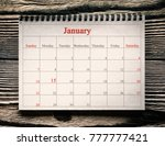january 15 in the calendar on... | Shutterstock . vector #777777421