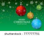 christmas light vector... | Shutterstock .eps vector #777777751
