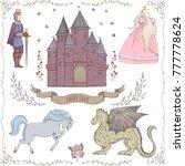 fairy tale theme. prince ... | Shutterstock .eps vector #777778624