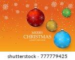christmas light vector...   Shutterstock .eps vector #777779425