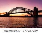 harbour bridge in darling... | Shutterstock . vector #777787939