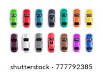 car toy on white background top ... | Shutterstock . vector #777792385