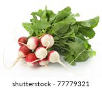 Fresh Radishes Isolated On...