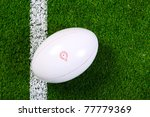photo of a rugby ball on a... | Shutterstock . vector #77779369