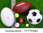 Photo Of Various Sports Balls...