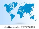 world map vector | Shutterstock .eps vector #777797389