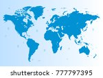 world map vector | Shutterstock .eps vector #777797395