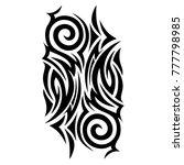 tattoos ideas designs   tribal... | Shutterstock .eps vector #777798985