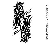 tattoo tribal vector design.... | Shutterstock .eps vector #777799015