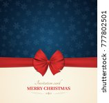 christmas invitation card with... | Shutterstock .eps vector #777802501