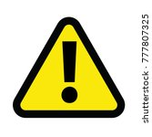 caution sign for danger sign... | Shutterstock .eps vector #777807325