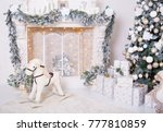 decorated christmas tree ... | Shutterstock . vector #777810859