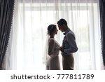 meeting the bride and groom in... | Shutterstock . vector #777811789