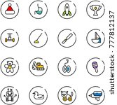 line vector icon set  ... | Shutterstock .eps vector #777812137