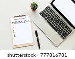 trends 2018 business concept   Shutterstock . vector #777816781