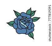 rose flower traditional tattoo...   Shutterstock .eps vector #777819391