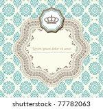 Stock vector retro card 77782063
