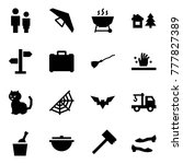 origami style icon set   man... | Shutterstock .eps vector #777827389