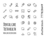 vector dental care icons set.... | Shutterstock .eps vector #777828649