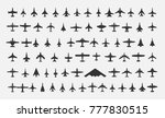 aircraft icons set. vector... | Shutterstock .eps vector #777830515