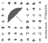 umbrella vector icon. weather... | Shutterstock .eps vector #777831331