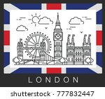 london  united kingdom. city... | Shutterstock .eps vector #777832447