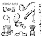 gentleman accessories. hipster... | Shutterstock .eps vector #777839704