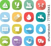flat vector icon set   boat... | Shutterstock .eps vector #777840661