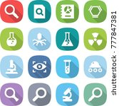 flat vector icon set  ... | Shutterstock .eps vector #777847381