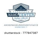 nano center font. universal...   Shutterstock .eps vector #777847387