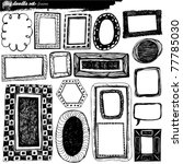 big doodle set   design elements | Shutterstock .eps vector #77785030