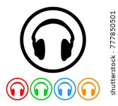headphones music icon in four... | Shutterstock .eps vector #777850501