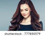beauty woman face portrait.... | Shutterstock . vector #777850579