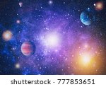 galaxy   elements of this image ... | Shutterstock . vector #777853651