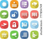 flat vector icon set   chip... | Shutterstock .eps vector #777854749
