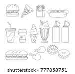 collection of fast food vector...   Shutterstock .eps vector #777858751