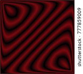 red waves on a black background.... | Shutterstock .eps vector #777859009