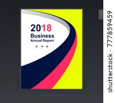 3d geometric curves business... | Shutterstock .eps vector #777859459