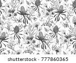 watercolor tropical  pattern  ... | Shutterstock . vector #777860365