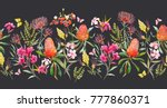watercolor tropical horizontal... | Shutterstock . vector #777860371