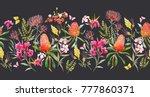 watercolor tropical horizontal...   Shutterstock . vector #777860371