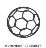 ball vector icon isolated on... | Shutterstock .eps vector #777868654