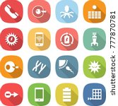 flat vector icon set   phone... | Shutterstock .eps vector #777870781