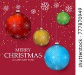 christmas light vector...   Shutterstock .eps vector #777870949