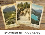 vintage photos with landscapes... | Shutterstock . vector #777873799