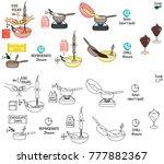 recipe chocolate mousse vector... | Shutterstock .eps vector #777882367