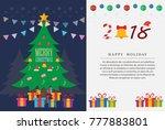 christmas tree 2018. vector... | Shutterstock .eps vector #777883801