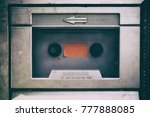 close up vintage cassette tape... | Shutterstock . vector #777888085