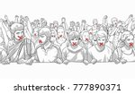 illustration of young crowd... | Shutterstock .eps vector #777890371
