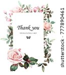 floral frame with leaves....   Shutterstock . vector #777890461
